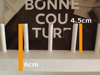 Tourillon fait maison - dimensions